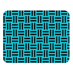Woven1 Black Marble & Turquoise Colored Pencil Double Sided Flano Blanket (large)