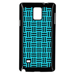 Woven1 Black Marble & Turquoise Colored Pencil Samsung Galaxy Note 4 Case (black)