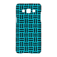 Woven1 Black Marble & Turquoise Colored Pencil Samsung Galaxy A5 Hardshell Case
