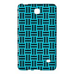 Woven1 Black Marble & Turquoise Colored Pencil Samsung Galaxy Tab 4 (7 ) Hardshell Case