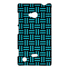 Woven1 Black Marble & Turquoise Colored Pencil (r) Nokia Lumia 720