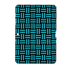 Woven1 Black Marble & Turquoise Colored Pencil (r) Samsung Galaxy Tab 2 (10 1 ) P5100 Hardshell Case