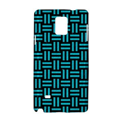 Woven1 Black Marble & Turquoise Colored Pencil (r) Samsung Galaxy Note 4 Hardshell Case
