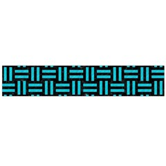 Woven1 Black Marble & Turquoise Colored Pencil (r) Large Flano Scarf