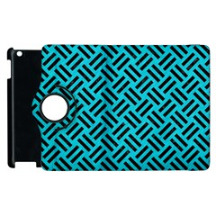 Woven2 Black Marble & Turquoise Colored Pencil Apple Ipad 3/4 Flip 360 Case