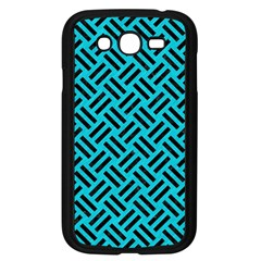 Woven2 Black Marble & Turquoise Colored Pencil Samsung Galaxy Grand Duos I9082 Case (black)