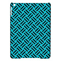 Woven2 Black Marble & Turquoise Colored Pencil Ipad Air Hardshell Cases