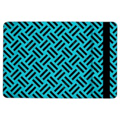 Woven2 Black Marble & Turquoise Colored Pencil Ipad Air 2 Flip