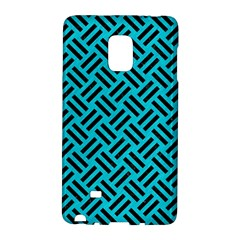 Woven2 Black Marble & Turquoise Colored Pencil Galaxy Note Edge