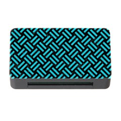 Woven2 Black Marble & Turquoise Colored Pencil (r) Memory Card Reader With Cf