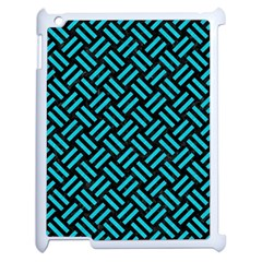 Woven2 Black Marble & Turquoise Colored Pencil (r) Apple Ipad 2 Case (white)