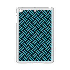 Woven2 Black Marble & Turquoise Colored Pencil (r) Ipad Mini 2 Enamel Coated Cases