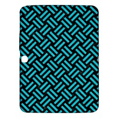 Woven2 Black Marble & Turquoise Colored Pencil (r) Samsung Galaxy Tab 3 (10 1 ) P5200 Hardshell Case