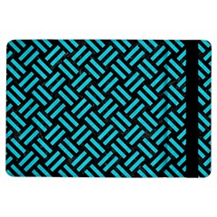 Woven2 Black Marble & Turquoise Colored Pencil (r) Ipad Air Flip