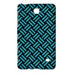 Woven2 Black Marble & Turquoise Colored Pencil (r) Samsung Galaxy Tab 4 (7 ) Hardshell Case