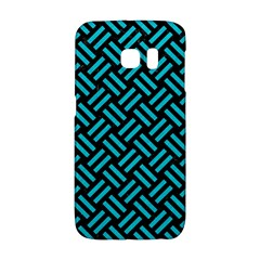 Woven2 Black Marble & Turquoise Colored Pencil (r) Galaxy S6 Edge