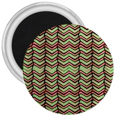 Zig Zag Multicolored Ethnic Pattern 3  Magnets