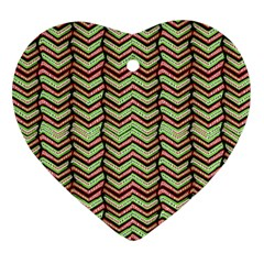 Zig Zag Multicolored Ethnic Pattern Ornament (heart)