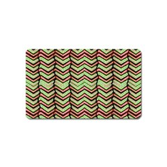 Zig Zag Multicolored Ethnic Pattern Magnet (name Card)
