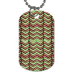 Zig Zag Multicolored Ethnic Pattern Dog Tag (two Sides)