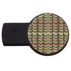 Zig Zag Multicolored Ethnic Pattern Usb Flash Drive Round (2 Gb)