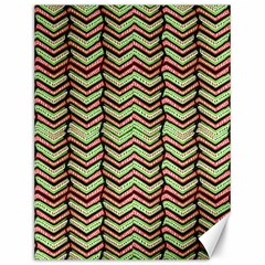 Zig Zag Multicolored Ethnic Pattern Canvas 12  X 16