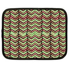 Zig Zag Multicolored Ethnic Pattern Netbook Case (large)