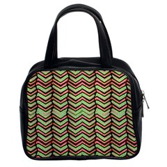 Zig Zag Multicolored Ethnic Pattern Classic Handbags (2 Sides)