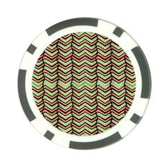 Zig Zag Multicolored Ethnic Pattern Poker Chip Card Guard (10 Pack)