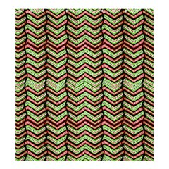 Zig Zag Multicolored Ethnic Pattern Shower Curtain 66  X 72  (large)