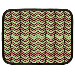 Zig Zag Multicolored Ethnic Pattern Netbook Case (xl)