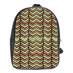 Zig Zag Multicolored Ethnic Pattern School Bag (large)