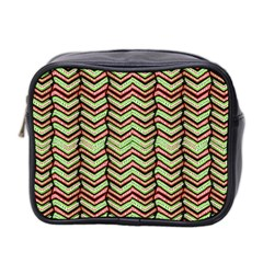 Zig Zag Multicolored Ethnic Pattern Mini Toiletries Bag 2 Side