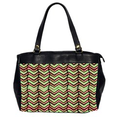 Zig Zag Multicolored Ethnic Pattern Office Handbags (2 Sides)
