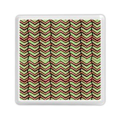 Zig Zag Multicolored Ethnic Pattern Memory Card Reader (square)