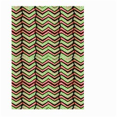 Zig Zag Multicolored Ethnic Pattern Large Garden Flag (two Sides)