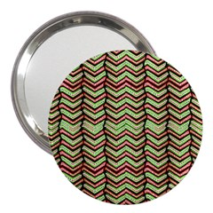 Zig Zag Multicolored Ethnic Pattern 3  Handbag Mirrors