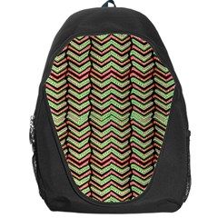 Zig Zag Multicolored Ethnic Pattern Backpack Bag