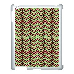 Zig Zag Multicolored Ethnic Pattern Apple Ipad 3/4 Case (white)
