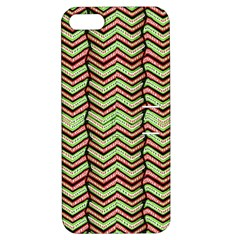 Zig Zag Multicolored Ethnic Pattern Apple Iphone 5 Hardshell Case With Stand