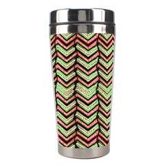 Zig Zag Multicolored Ethnic Pattern Stainless Steel Travel Tumblers