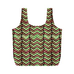 Zig Zag Multicolored Ethnic Pattern Full Print Recycle Bags (m)