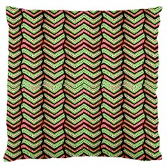 Zig Zag Multicolored Ethnic Pattern Large Flano Cushion Case (two Sides)