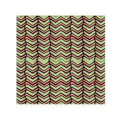 Zig Zag Multicolored Ethnic Pattern Small Satin Scarf (square)