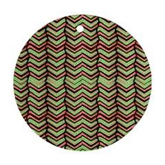 Zig Zag Multicolored Ethnic Pattern Ornament (round)