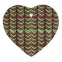 Zig Zag Multicolored Ethnic Pattern Ornament (heart)