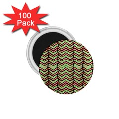 Zig Zag Multicolored Ethnic Pattern 1 75  Magnets (100 Pack)