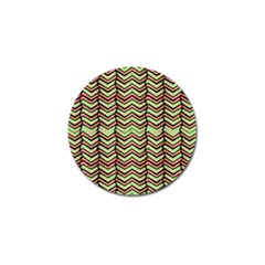 Zig Zag Multicolored Ethnic Pattern Golf Ball Marker (10 Pack)