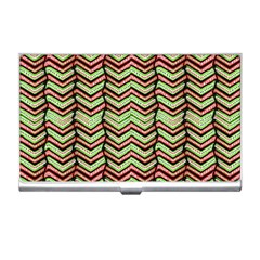 Zig Zag Multicolored Ethnic Pattern Business Card Holders