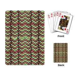 Zig Zag Multicolored Ethnic Pattern Playing Card